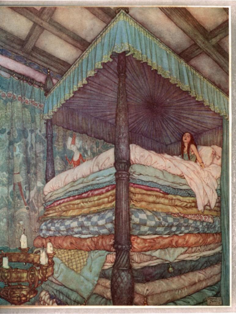 Edmund Dulac - Princess and the Pea