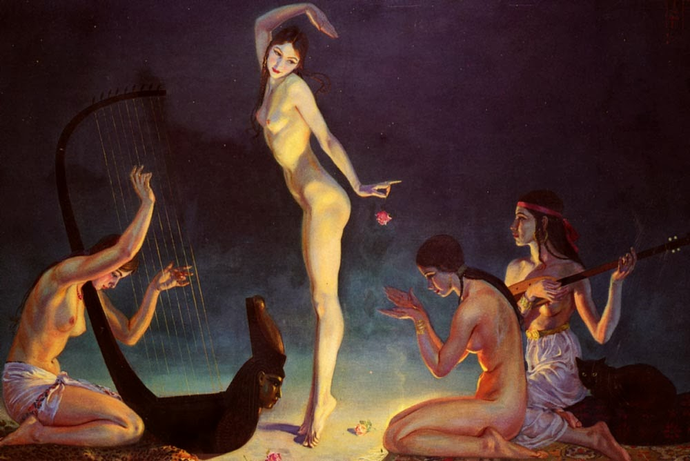 George Owen Wynne Apperley - A dancer of ancient Egypt